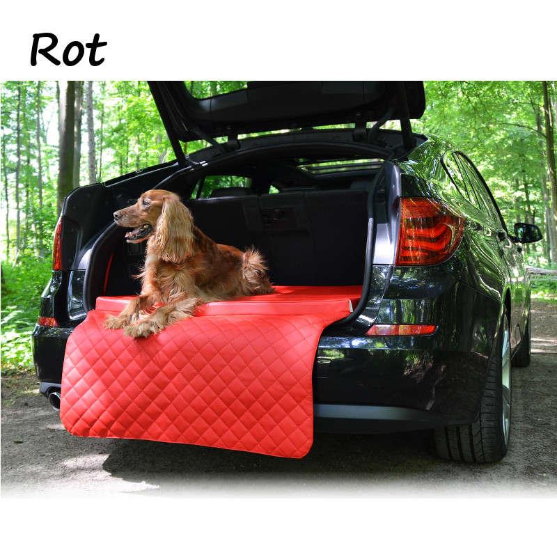 Auto Hundematte Kofferraum Bett kofferraummatte rot