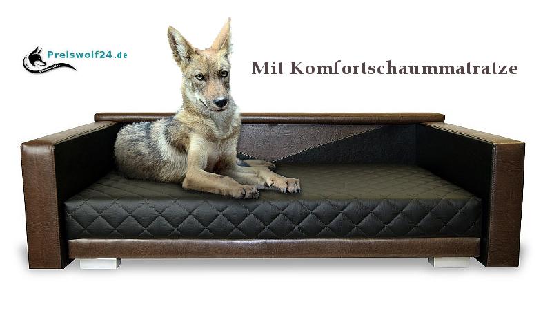 Designe Hundesofa Hundebett OSLO XXL Komfortschaummatratze Preiswolf24