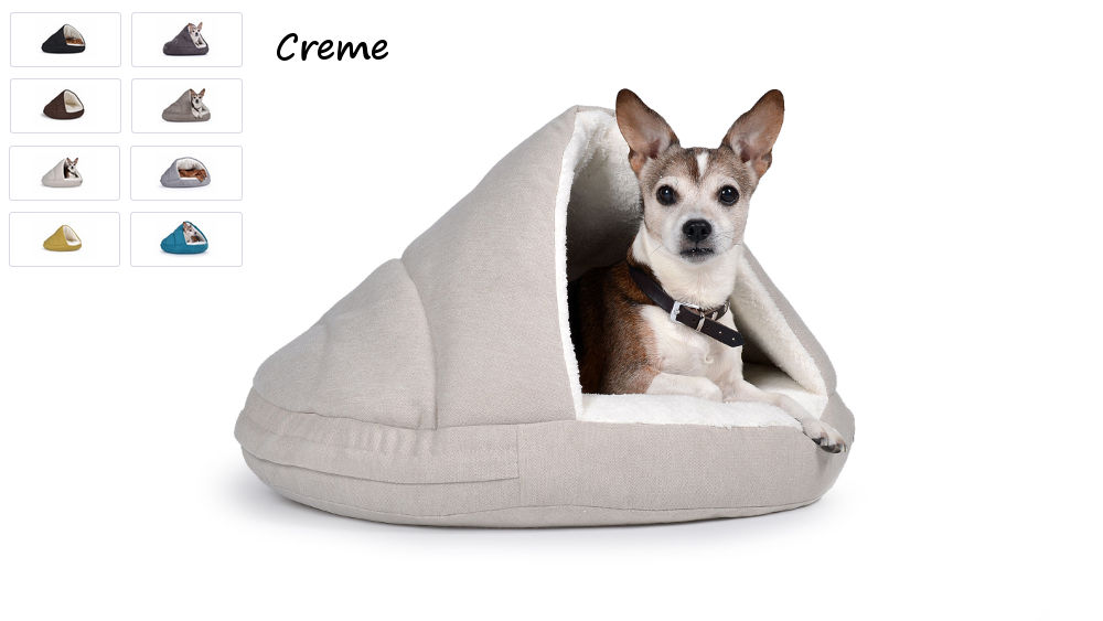 Hundehöhle Hundebett Shell Comfort für kalte Tage creme