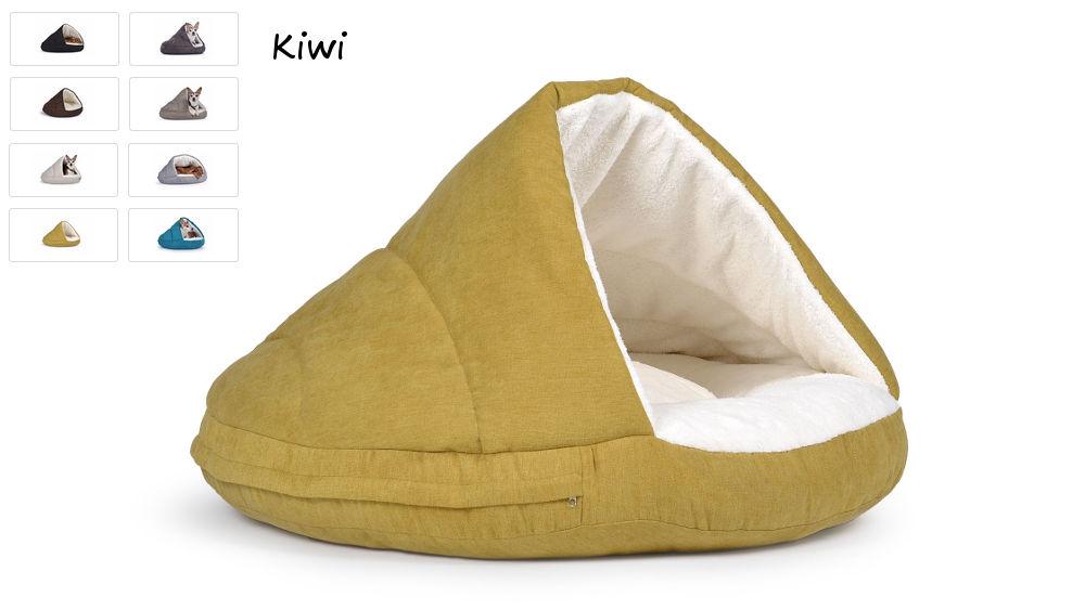 Hundehöhle Hundebett Shell Comfort für kalte Tage kiwi