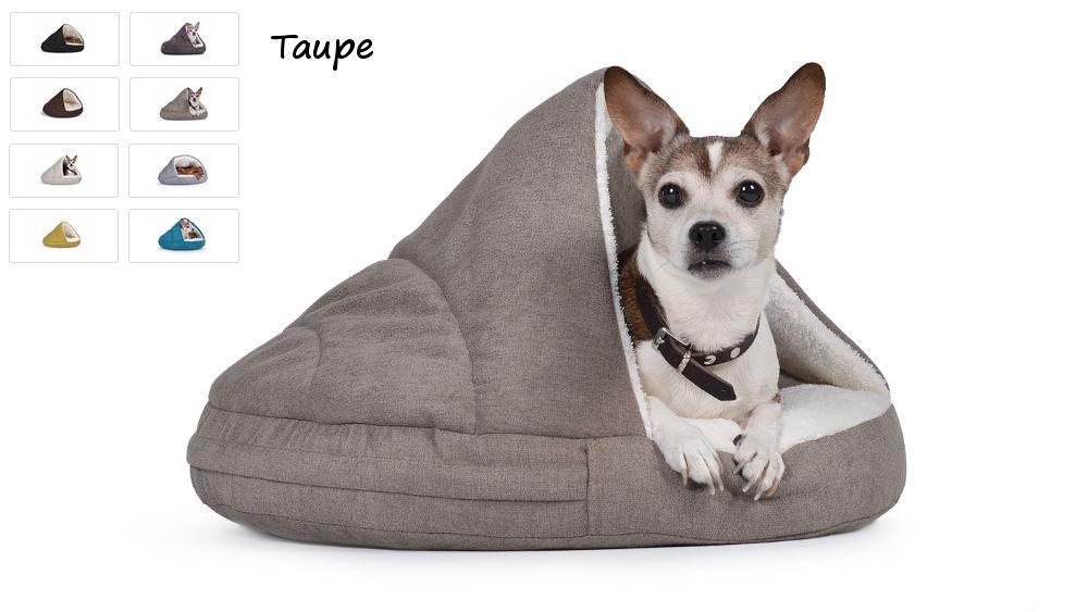 Hundehöhle Hundebett Shell Comfort für kalte Tage taupe