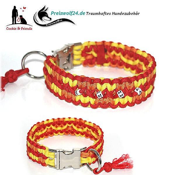 Paracod-Hundehalsband-zick-zack-rot-orange-gelb