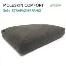 Petfab Hundekissen orthopädisch mit Petfab Bezug Moleskin / sehr dicht gewebt / 100% Baumwolle / extrem strapazierfähig / leicht dehnbar / - bis 35kg