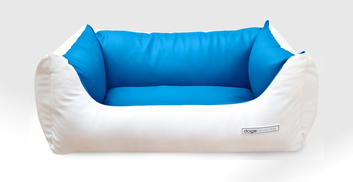 hundebetten luxus kunstleder deluxe bicolor. Black Bedroom Furniture Sets. Home Design Ideas