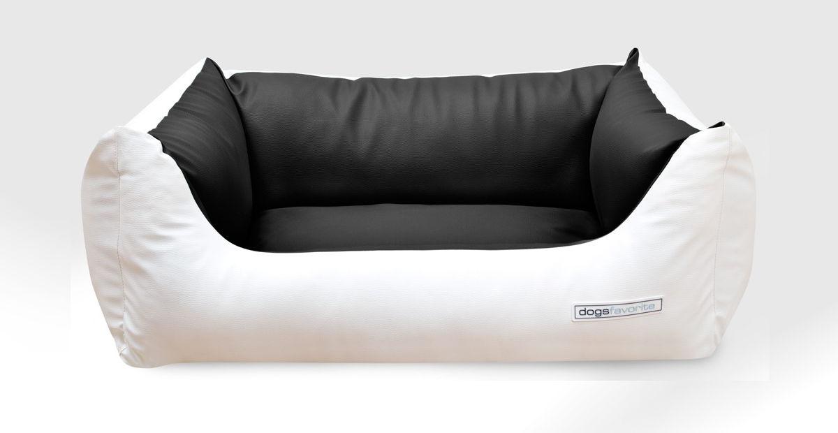 dogsfavorite-hundebett-deluxe-bicolor-weiss-schwarz