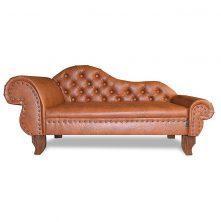 Luxus Hundebett-Sofa Kunstleder Rdy Design Top Qualität Brandy