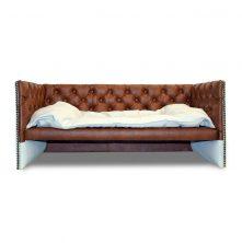 Wunderschönes Designer HUndesofa Bett aus Kunstleder Hundebett Manufaktur aus Deutschland Edy Design