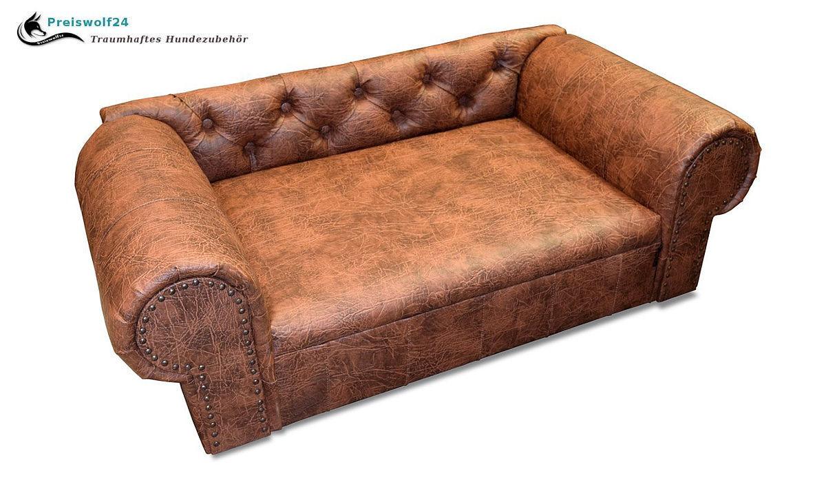 Luxus Designer Hundesofa OHIO NEW Chesterfield Mammut Cognac