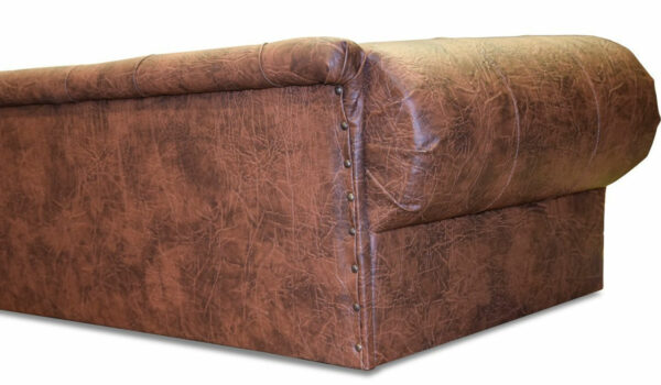 Luxus Designer HundesofaHundebett Kunstleder OHIO NEW Chesterfield Antik cognac Edy Design