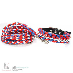 Paracord-Hundehalsband-Hundeleine-Floating-Colors