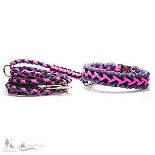 Paracord Hundehalsband Crossover Cookie & Friends