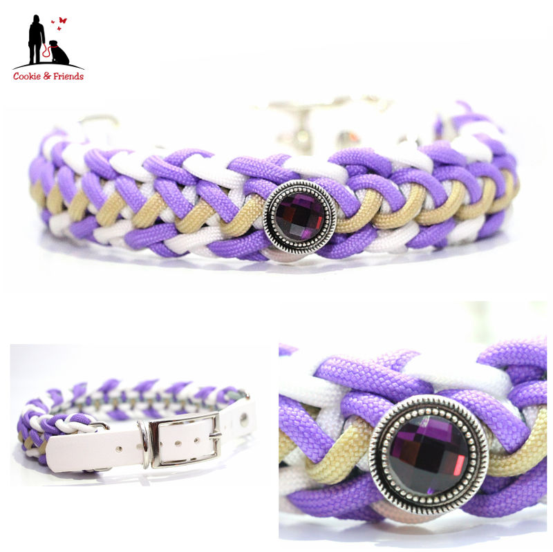 paracord-hundehalsband-floating-colors-lila-weiss