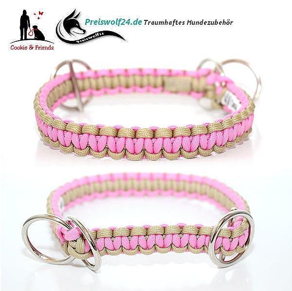 Paracod-Hundehalsband-beige-rosa