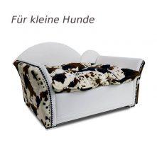 Luxus Hundesofa HERZCHEN L Kuhfell Braun Imitat
