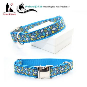 Hundehalsband Gurtband Blue Artwork