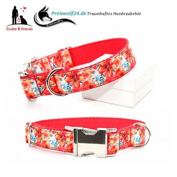 Hundehalsband Gurtband Colorful Flowers