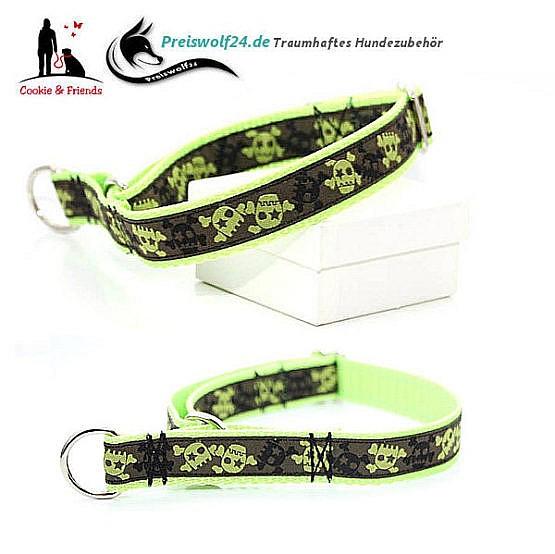 Hundehalsband Gurtband Totenkopf
