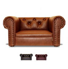 Hundesofa Hundebett Kunstleder OHIO CHESTERFIELD MINI