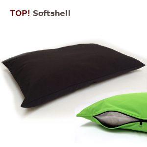 Petfab Hundekissen orthopädisch mit Petfab Bezug Softshell / robust / outdoorfähig / wasserabweisend / weich / - bis 20kg