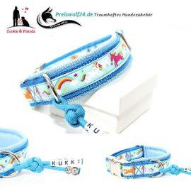 Hundehalsband-Einhorn-Himmelblau-3