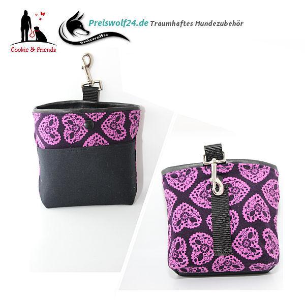 Futterbeutel Bag und Snack Purple Hearts