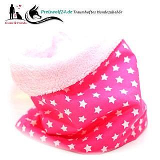 Hundescha Hundeloop Loops Sterne auf Pink