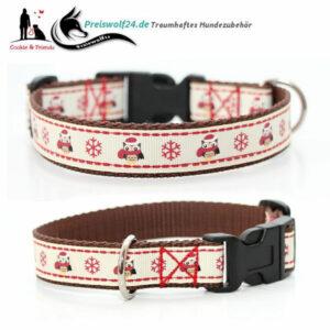 Hundehalsband Winterhalsband Schneeeule