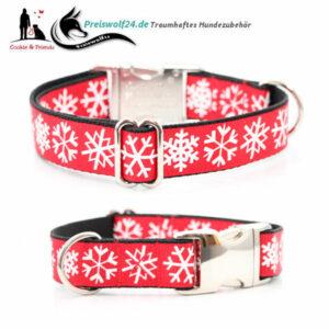 Weihnachts-Hundehalsband-Schneekristall