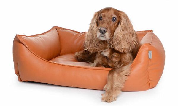 Hundebett Kunstleder Terracotta