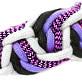 04 Schwarz,Lilac, Pink Stripes, Weiß