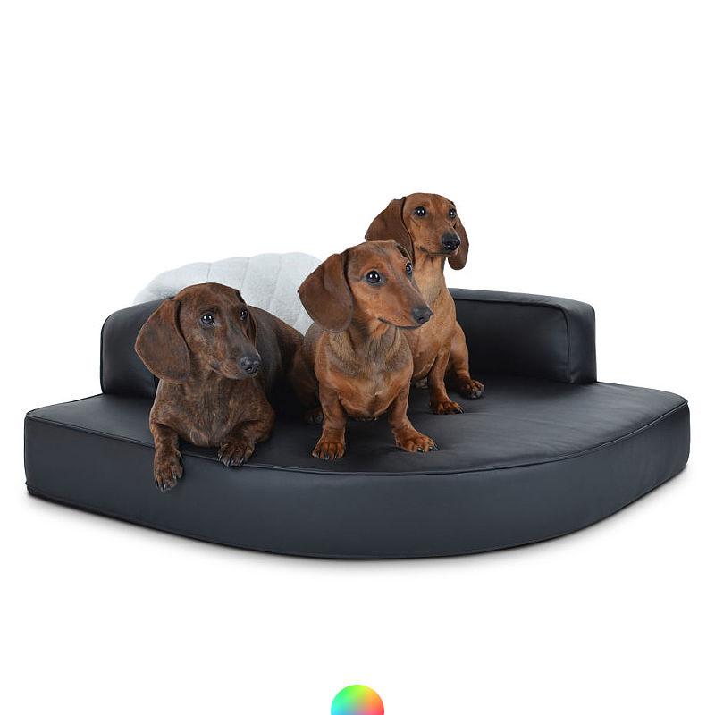 Hundeckbett Kunstleder Preiswolf24