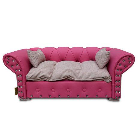 Hundesofa Hundecouch Pink Weiß