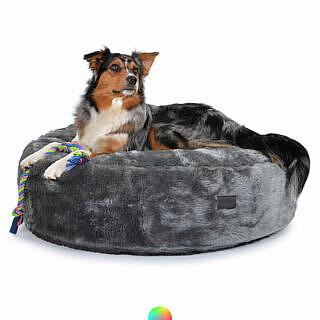 Weiches kuscheliges Hundekissen rund