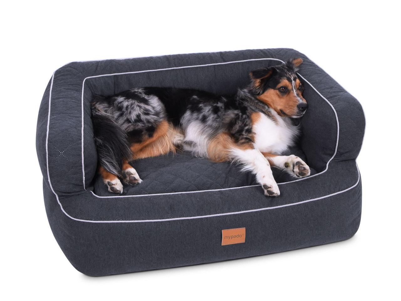 Mypado Luxus Hundebett anthrazit