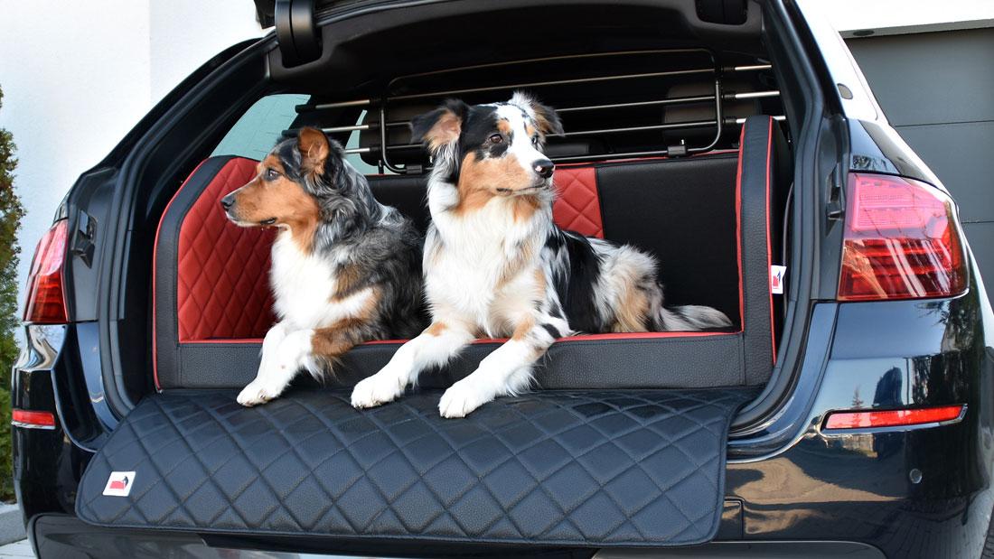 Kofferraum Hundebett 4.0 mit Echtlederanteil