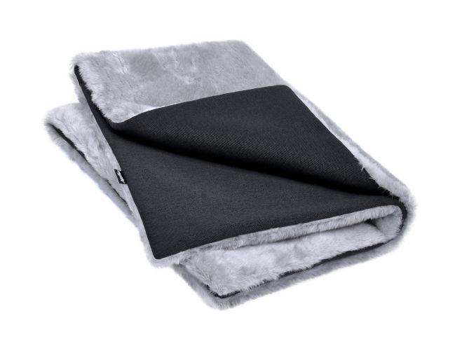 hundedecke silber grau