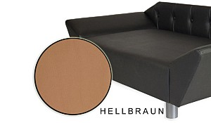 Hundecouch Hundesofa Tierbett Luxus-Design Galaxy Hellbraun