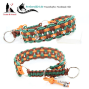 Paracod Hundehalsband Big Wave Tanngrün, Orange und Braun