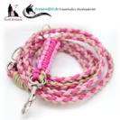 Paracord-hundeleinen-fuer-kleine-Hunde-Beige-Rosa-Pink