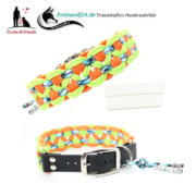 Paracod Hundehalsband Big Wave Neongruen Storm Orange