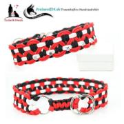 Paracod Hundehalsband Big Wave Rot Schwarz Weiß